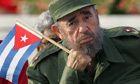 Fidel Castro attends a rally