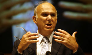 Dr Vince Cable speaks at the 2007 Liberal Democrat conference