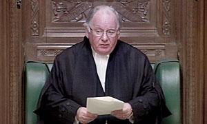 Speaker of the House of Commons Michael Martin.