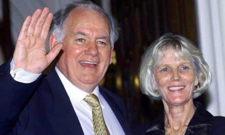 Speaker Michael Martin with his wife Mary