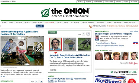 The Onion - screen grab