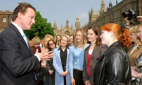 David Cameron meeting successful women councillors