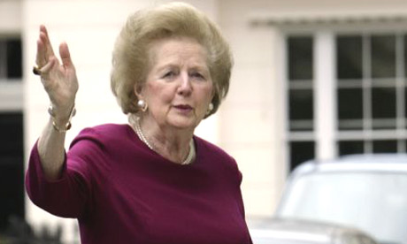 Baroness Thatcher, 82. arrives home in Belgravia, London, after a night in hospital undergoing tests
