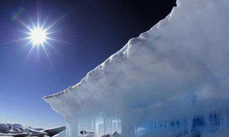 An Arctic landscape in Nunavut in Canada