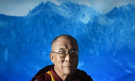 A portrait of the Dalai Lama