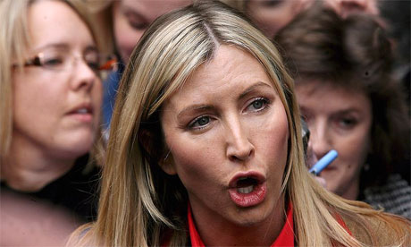 Heather Mills outside court after her divorce settlement is finalised