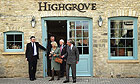 Prince Charles and Camilla, Duchess of Cornwall, leave the Highgrove shop on Tetbury High Street that will sell produce from the gardens of their Highgrove estate.