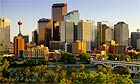 The city skyline of Calgary, in Alberta, Canada