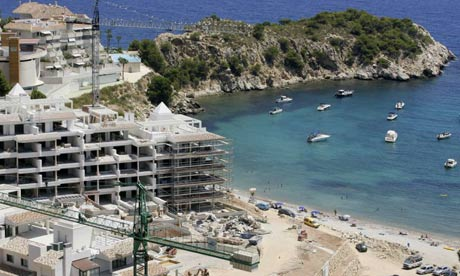 New holiday homes being built in Altea on Spain's Costa del Sol