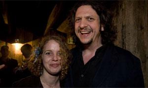 Jay Rayner and Leona Williamson, winner of best ethical award