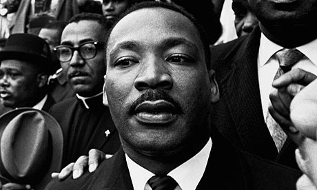Martin Luther King Jr.at a rally held in Selma, Alabama, during marches