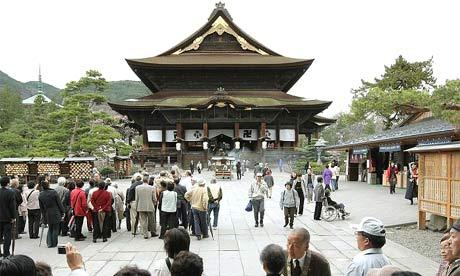The Buddhist Zenkoji temple in Nagano, Japan