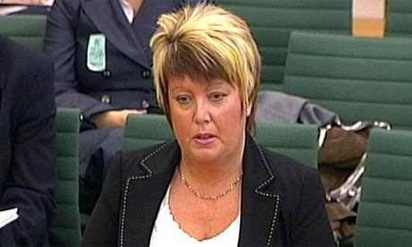 Helen Newlove speaks to the home affairs select committee in the House of Commons