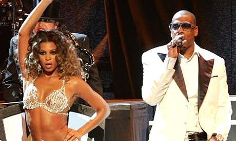 Beyonce and Jay-Z perform onstage at New York's Radio City music hall