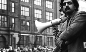 Tariq Ali one of the leaders of the 1968 Grosvenor Square protests against the Vietnam War