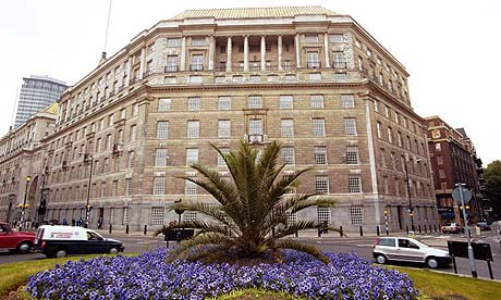 The London headquarters of MI5