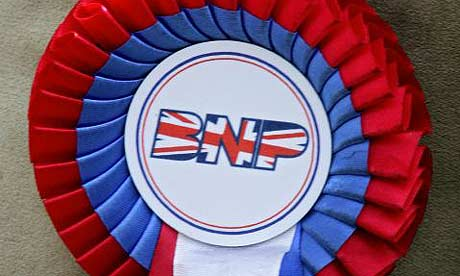 A British National party rosette