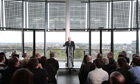 Boris Johnson speaks after signing the declaration of acceptance as Mayor of London at City Hall