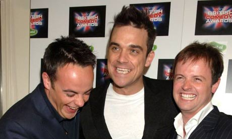 Robbie Williams with Ant and Dec