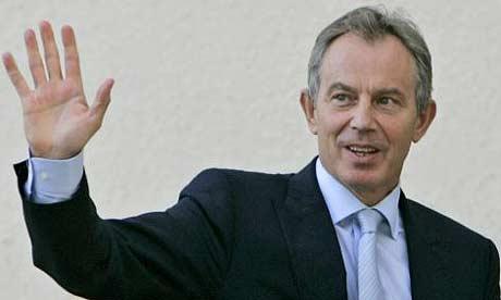 The hand of Tony Blair - 2.