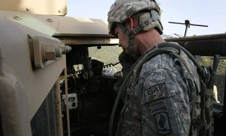 Charlie Company's Captain McChrystal controls troops in contact from his remote location, calling in instructions and ordering artillery counter-strike