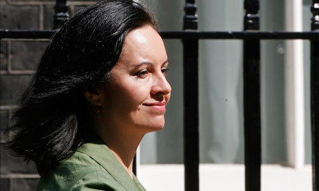 Caroline Flint leaves Downing Street after the PM's weekly cabinet meeting