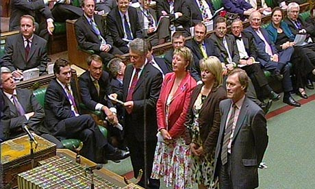 The results are read for the 12-week abortion limit vote in the House of Commons