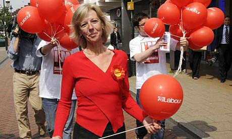Labour party candidate Tamsin Dunwoody canvassing in Crewe