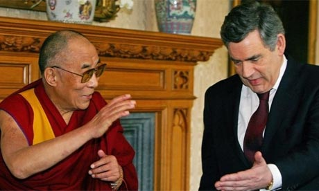 The Dalai Lama and Gordon Brown at Lambeth Palace