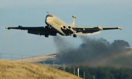 A Nimrod landing at RAF Kinloss