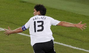 Germany's Michael Ballack celebrates
