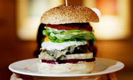A gourmet burger