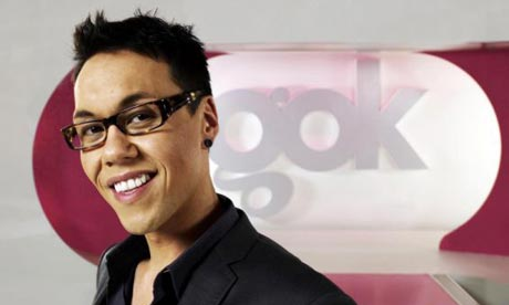 Gok Wan on the set of Fashion Fix