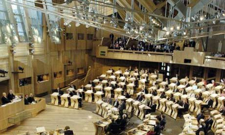 MSPs in the debating chamber at Holyrood