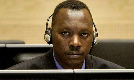 Thomas Lubanga at the ICC, Photograph: Ed Oudenaarden/AFP/Getty