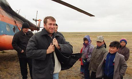 Governor Roman Abramovich visits Chukotka in 2002. Photograph: Yuri Feklistov/Ogonyok/AP