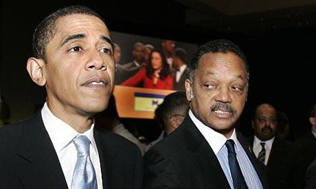Barack Obama and Jesse Jackson