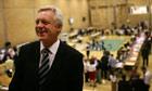 David Davis at the byelection count