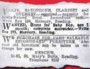 An advert for the adoption of a baby boy - who later turned out to be Ian McEwan's brother