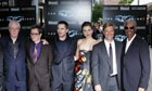 The Dark Knight cast at the premiere in New York