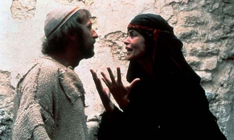 Sue Jones-Davies as Judith Iscariot in Monty Python's Life of Brian (1979) with Graham Chapman