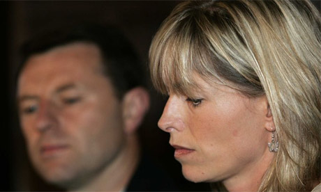 Gerry and Kate McCann at a press conference. The couple were cleared of their Aguido status by Protugese police after the case concerning the disappearance of their daughter, Madeleine, was closed due to lack of evidence