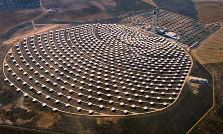 A solar power plant in Spain