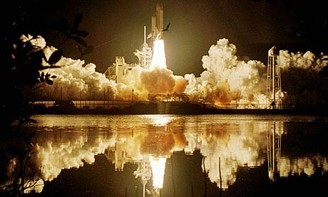 The space shuttle Columbia lifts off for its penultimate light in March 2002