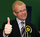 John Mason celebrates win Glasgow East by-election