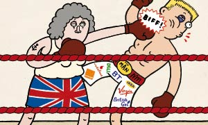A cartoon depiction of Anna Tims, who has been championing the consumer rights of Guardian readers for the last ten years