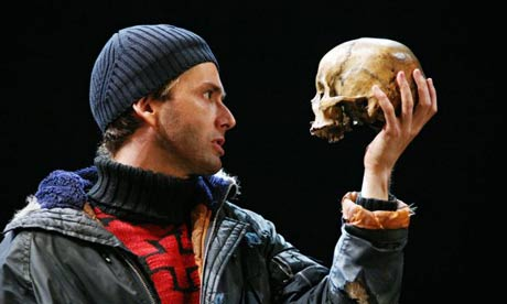 David Tennant as Hamlet in 2008 production directed by Greg Doran for the RSC