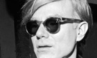 Andy Warhol in his Factory in 1968