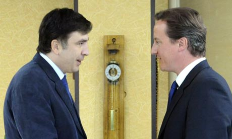 Mikheil Saakashvili and David Cameron