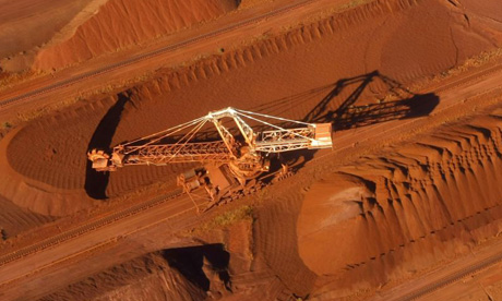 A BHP Billiton reclaimer in Perth